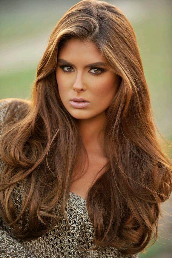 Imagenes de cabello color chocolate en morenas